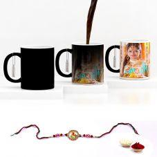 GiftsOnn Rakhi Combo with Black Magic mug & Rakhi