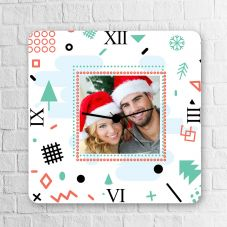 GiftsOnn Christmas photo Square Clock