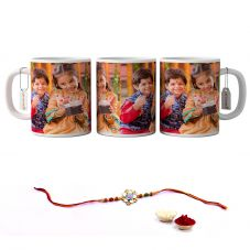 GiftsOnn White Printed Mug for Rakshabandhan Gifts