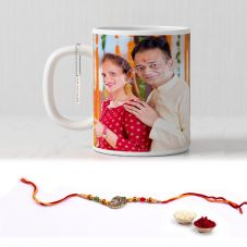 GiftsOnn Rakhi Combo with White Photo mug & Rakhi