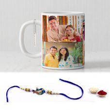 GiftsOnn Raksha Bandhan Printed  White Mug With Rakhi