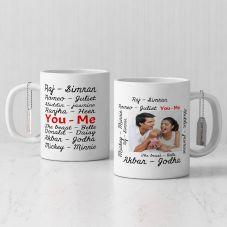 GiftsOnn Lovely Personalized White Mug (320ml,Set of 1)