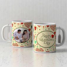 Happy valentine's day Personalized White Mug (320ml,Set of 1)