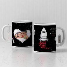 I Love u to the moon and back White Mug