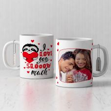 valentine's day With Photo Mug (320ml,Set of 1)