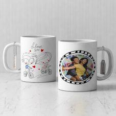 I love You Personalized White Mug( 3.7x3.2in, 320ml)