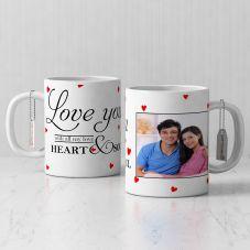 Love You Personalized White Mug