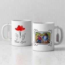 True Love Quote Personalized White Mug(Set of 1)