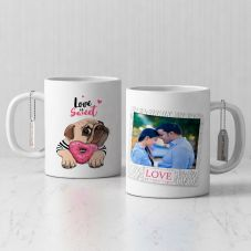Love Is Sweet Personalized Coffee Mug with Quote