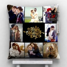 GiftsOnn 9 Photos Personalized Cushion White-12 * 12