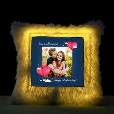 Love is all around...Happy Valentine's day Led cushion