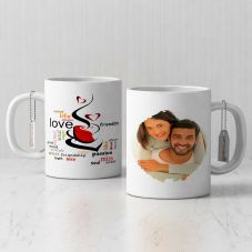 Romantic Personalized Coffee Mug with Quote