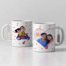 Romantic Personalized White Coffee Mug with Quote