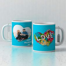 GiftsOnn Happy valentine's day Personalized White Mug