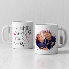 Home is Where your is Personalized White Mug