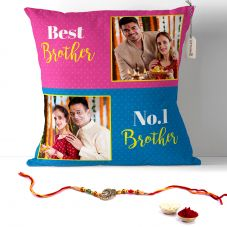 Personalized Pillow for Best Brother with rakhi