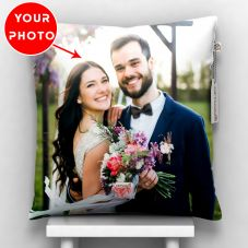 GiftsOnn Black Color Personalized Pillow - Customized With Photo