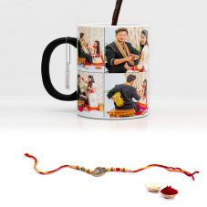 Rakhi Combo for Raksha Bandhan Printed Magic mug with rakhi