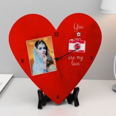 You Are My Love Anniversary Heart Clock