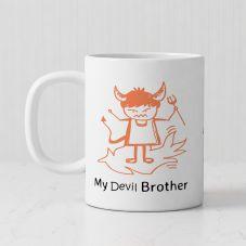 My Devil Brother 1 Personalized photo White Mug