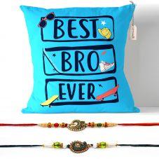 Best Bro Ever Cushion with Filler 12x12 Raksha bandhan Gifts