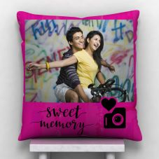 GiftsOnn Sweet Memory  photo Personalized Satin Cushion - White