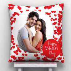 happy valentine's day Printed Cushion With Cover 12x12 in