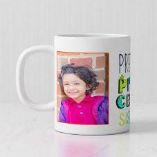 Pretty Princess Sister text 2 Personalized photos White Mug