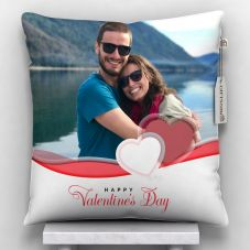 GiftsOnn Happy valentine's day  Printed Cushion With Cover