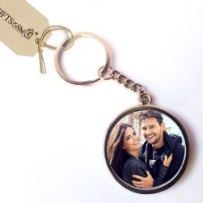 Metal Photo keychain 2 Sided