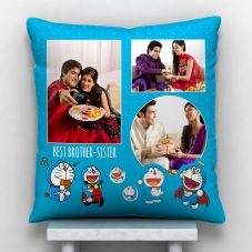 Best Brother Sister Quote With 3 photos Personalized Pillow