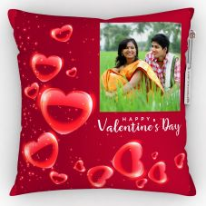 GiftsOnn Happy valentine's day Cushion With Cover - 12x12 inch