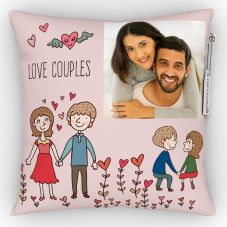 GiftsOnn Loves Couples Printed Personalized Pillow