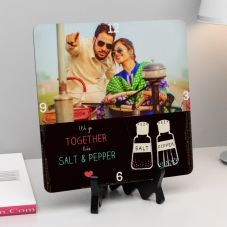 We Go Together Quote Square Personalized Clock