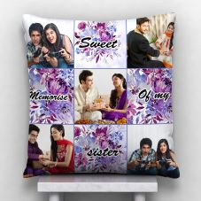 Sweet Memories Of My Sister Quote With 5 photos Personalized Pillow
