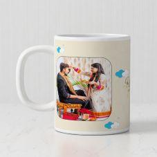 Raksha Bandhan  Personalized White Ceramic Mug (320ml,Set of 1)