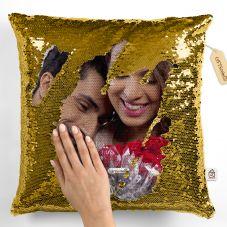 GiftsOnn Gold Magic Cushion 12x12 Cushion with Filler