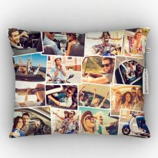 Customized White 12-15 Photos Satin pillow, 12*15