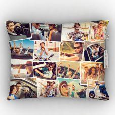 Customized White 12-15 Photos Satin pillow, 12*15