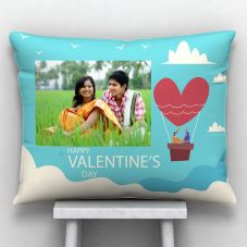 Happy valentine's day Photo Printed Cushion With Cover - 12x15