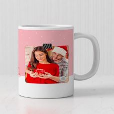 Merry Christmas Photo Print Ceramic Mug ( 3.7x3.2in, 320ml)