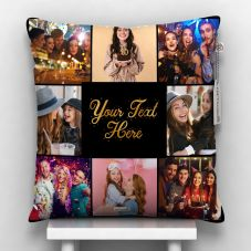 GiftsOnn 8 Photos with Custom Message Personalized Pillow 12x12 in