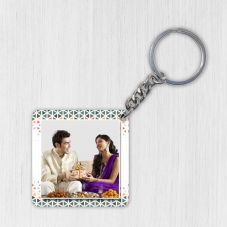 Raakhi Personalized Square Wooden Keychain