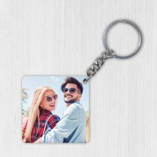 Personalized Wooden Square Key Chain