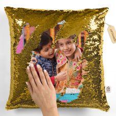 Raakhi Personalized Photo Magic Pillow/Cushion- White, 12*12