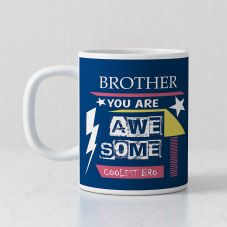 Brother You Are Awesome Collest Bro white mug