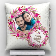 Happy valentine's day Quote With Printed cushion with cover