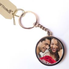 GiftsOnn Customizable Metal Keychain - Round shaped