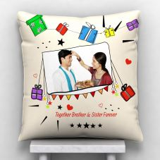 Together Brother & Sister Forever Personalized Photo Pillow