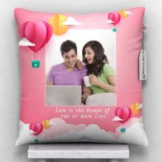 Personalized Lovely Quote Cushion With Cover (12x12, White)